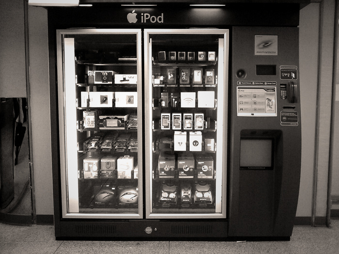 I bet the iPods in this vending machine aren't preloaded with music
